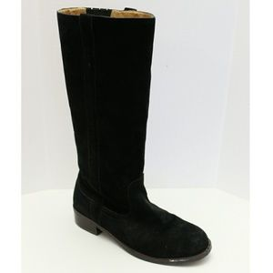 Zodiac Black Suede Pull up Riding Boot